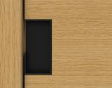 I-4254 Schuifdeurgreep haaks H-100mm 40mm mat zwart