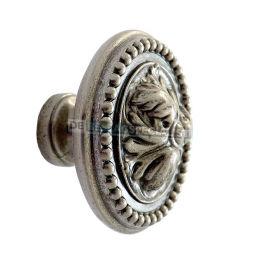 Knop Acanthus 48mm oud zilver