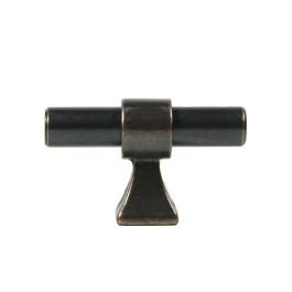 Berkhout T knop donker antiek brons