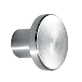 Ciss platte ronde knop RVS