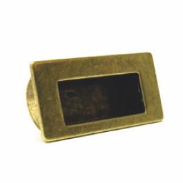 Infreeskom rechthoekig 64X82mm H-36mm antiek brons