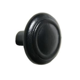 Knop diameter 38mm zwart