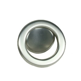 Knop ring Ø 60mm boorafstand 32mm RVS look
