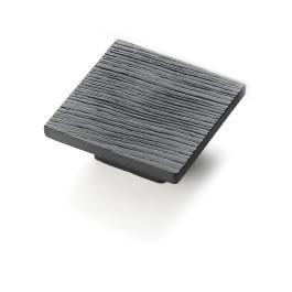 Knop vierkant 50x50mm Mat zwart