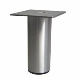 Ronde poot Ø 40mm Aluminium met plaat