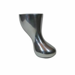 Tosca poot 130mm glimmend Aluminium