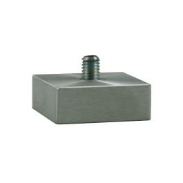 Vierkant aluminium pootje 40x40x15mm M8x10mm