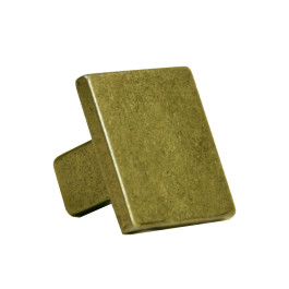 Vierkante knop 25mm H-22mm antiek brons