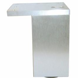 Vierkante poot 60x60mm H-150mm alu met plaat verstelbaar