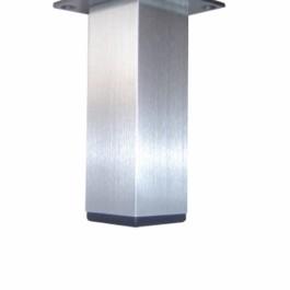 Vierkante poot alu 40X40mm met plaat