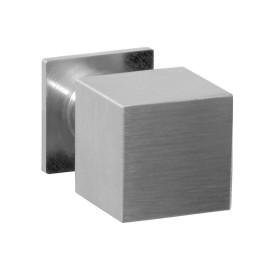 Vierkante RVS knop op poot