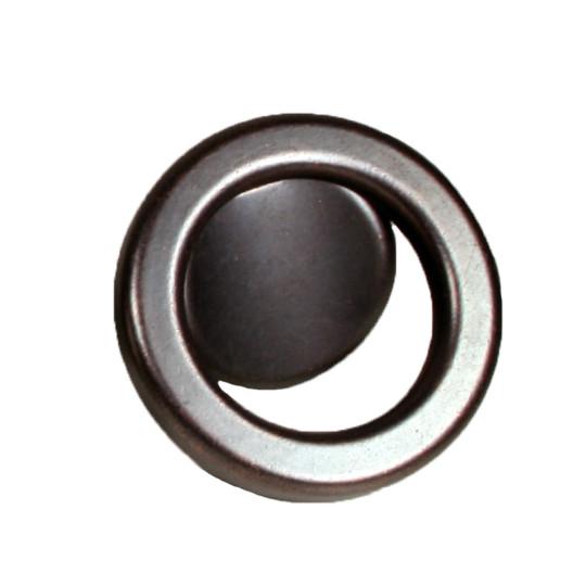 Knop ring Ø 60mm boorafstand 32mm koper oxyde