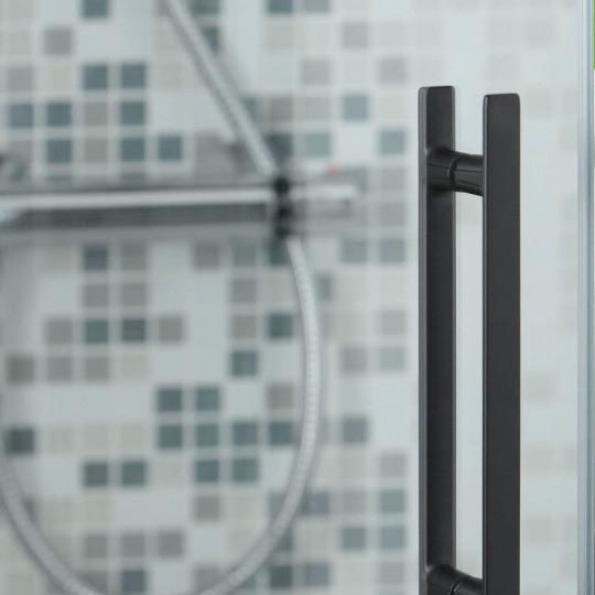 Platte deur greep 15X160X224mm 15X320X382  Mat zwart SET
