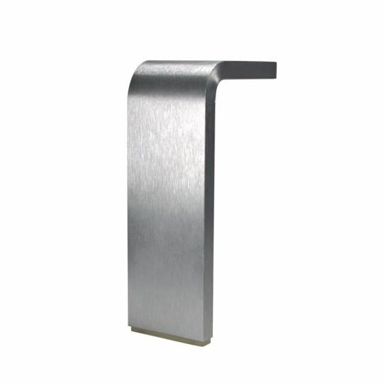 Poot 50x10mm  aluminium geborsteld