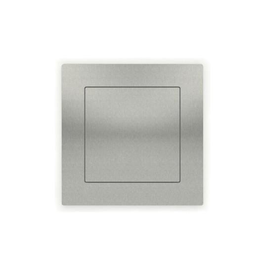 Vierkante indrukgreep 75x75mm RVS